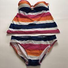 Ralph Lauren Multicolor Strapless Bandeau Size 6 Tankini Swimsuit