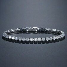 925 Sterling Silver Tennis Bracelet Bangle 4mm for Women Wedding Fashion Jewelry