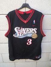 Maillot basket SIXERS IVERSON n°3 NIKE NBA shirt noir Philadelphia 76ers L