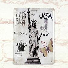 The Statue Of Liberty Poster Tin Antique Metal Signs Home Pub Bar Wall Decor