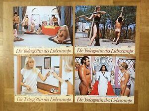 Die Todesgöttin des Liebescamps (4 Kinoaushangfotos '81) - Laura Gemser / sexy