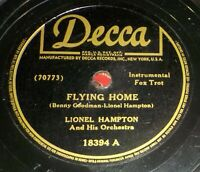 Lionel Hampton Orch 78 Flying Home / In The Bag Y16
