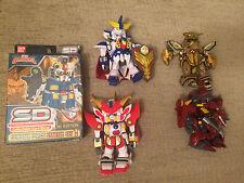 2003 Bandai SD Gundam Force Lot: 1 Starter Deck, 2 figures + 2 for parts
