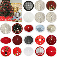 Christmas Tree Print Skirt Mat Cover Stand Xmas Home Party Floor Decor Ornaments