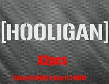 HOOLIGAN car racing sticker decal hoonigan bmw vinyl decal german 2pcs