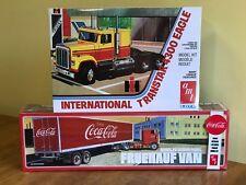 AMT 1/25 International Transtar 4300 Eagle & AMT 1/25 Coca Cola Beaded Panel Van