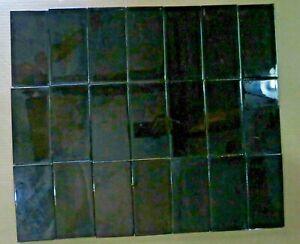 "Antique Glazed JET BLACK Rich GLOSSY Color BORDER frame TILES 6"" X 3"" QTY-21 PCS"