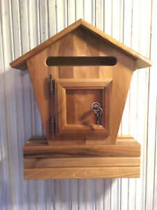 Wooden Outdoor Mailbox Letterbox Post Box Newspaper Slot