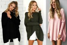 Ladies Long Loose Cover Tops Batwing Sleeve Sexy Pullover Mini Sweater Dress