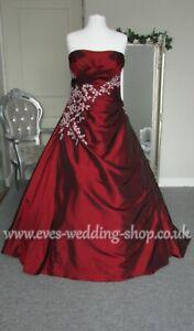 Burgundy red wedding dress UK 18 -check measurements