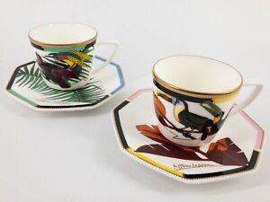 Vintage 1992 Unused Shiseido Coffee Cup Set By London-Based Artist Althea Wilson