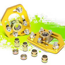 FOR 90-93 FORD MUSTANG FRONT 2PCS ALUMINUM ADJUSTABLE CAMBER/CASTER PLATES GOLD