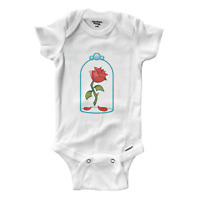 Infant Gerber Onesies Bodysuit One-Pieces Clothes Beauty & Beast Enchanted Rose