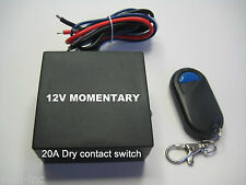 12V 30A dry contact 0v output remote control MOMENTARY switch RX101M