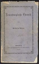 NEUENBURG (FRIESLAND) Chronik erschienen 1878 in Oldenburg Original Selten!