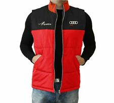 Audi By Quattro VEST Mens Embroidered logo Jacket Clothing  Apparel Gilet