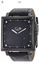 New 3H Italy Mens Woman's CA01 Cube Black PVD Automatic Interchangeable Watch