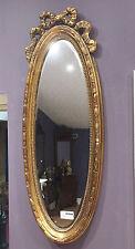 Dorado Francés Shabby Chic Estilo Antiguo Rococó Adorno OVALADO pared espejo