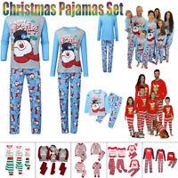 Family Matching Adult Kids Christmas Pajamas Xmas Nightwear Pajamas PJs Set CA