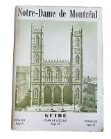 Notre Dame De Montreal Canada, Souvenir Guide Booklet Book Paperback 1952 BY
