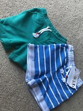 M&S Marks And Spencers Baby Boys Jersey Shorts Green Blue 3-6 Months