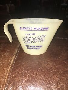 Vintage Blue Cheer Detergent Laundry Measuring Cup1960s