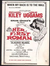When My Back Is To The Wall 1968 Leslie Uggams Her First Roman Sheet Music