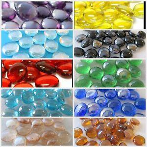 Decorative Glass Pebbles Stones Gems Vase Nuggets Marbles VARIOUS COLOURS & QTYS