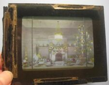 Old Magic Lantern Glass Slide Photograph Store Front Christmas Toy Decorations