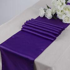 "Satin Table Runner 1 pc 12""X108"" Wedding venue party decoration - Cadbury Purple"