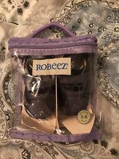 Nip Robeez Mini Shoez ShoesLil Sport H&L Navy Blue Gray Leather Soft Soles 3-6m
