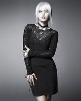 Punk Rave Black Nightingale Dress Goth Steampunk Lace Trim Long Sleeve