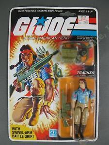 ORIGINAL MOC 1984 GI Joe Spirit Iron Knife v1 Tracker FACTORY SEALED Figure NR