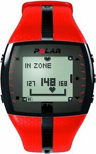 POLAR Men's FT4 Heart Rate Monitor (Orange/Black)