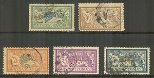 France #122/130, 1900-1927 Liberty & Peace Issues, Cancelled / Used