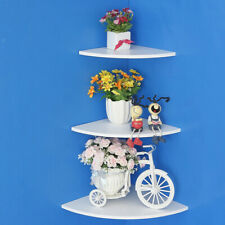 3Pcs/Set Floating Corner Wall Shelf Display Trinket Photo Shelf Home Decor New