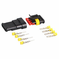 Auto Waterproof Electrical Wire Connector Plug Terminals 10pcs 4W 3 HID 2 Z1T0