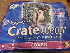 Pet Dreams Designer Crate Wear Cover Size Medium (Zebra Design)