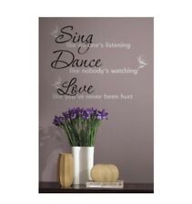 "RoomMates "" Sing dance and love""  Peel and Stick Wall Decals"