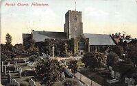 BR58084 parish church folkestone    uk