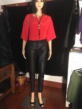 Banana Republic 100% silk blouse, Rust, Size Med