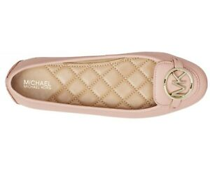 NEW Size 8 Michael Kors Lillie Leather BALLERINA Moccasin Soft Pink Gold NIB