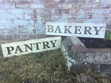 "Rustic Wood And Metal Sign - ""PANTRY"" -Vintage Ivory, Cedar, Fixer Upper"