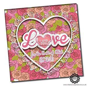 Love You for the Sake of Allah- GEN002- Muslim Islamic Greeting Cards