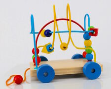 Pull Along Toy Labyrinth Bead Puzzle Car 18m+ NEW