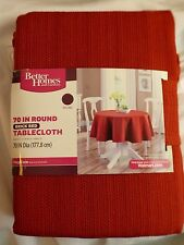 "Better Homes & Gardens Brick Red Tablecloth 70"" Round Machine Washable New"
