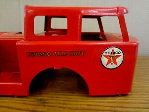 Vintage 1960's BUDDY L Texaco Fire Chief Truck ORIGINAL PAINT BODY & DECALS
