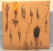 LOT 10 VINTAGE FISHING SOUTH BEND SUN SPOT,FLOYD'S BUZZER BLUE FOX,WEBER + MORE