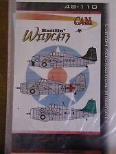 1/48 CAM Decal BATTLIN' WILDCATS Pre-War Grumman F4F-3A's USS Wasp, Ranger OOP