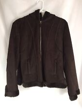 "HYDRAULIC ""The Blue Jean Standard"" Jacket With Hood Women's Size Large Brown"
